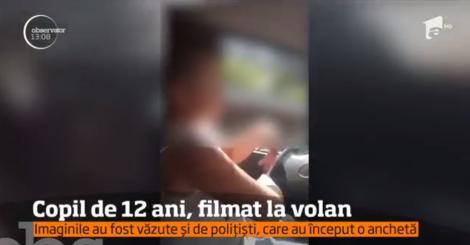 Un copil de 12 ani a fost filmat la volanul unei maşini de teren, pe o şosea din Maramureş. Aventura s-a încheiat cu un dosar penal