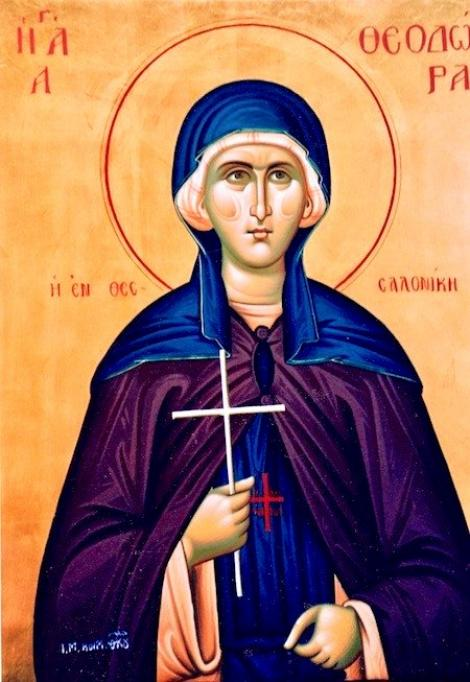 Acatistul zilei de 29 august. Rugăciune către Sfânta Teodora din Tesalonic