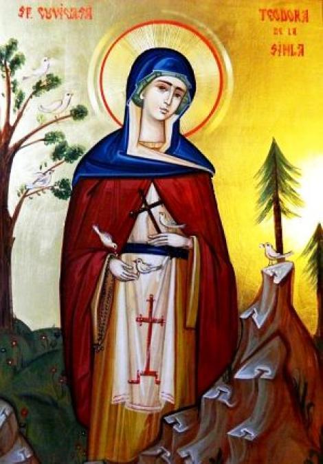 Sf Cuvioasă Teodora de la Sihla, acatistul zilei de 7 august