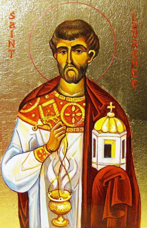 Calendar ortodox 10 august. Prăznuirea Sfântul Mucenic Lavrentie Arhidiaconul