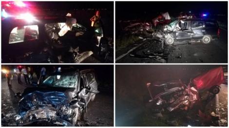 ISU Arad a făcut publice imagini teribile cu mașina intrată pe contrasens, în apropiere de Nădlac: Operațiune dramatică de descarcerare