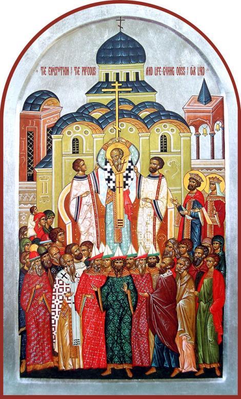 Sinaxar 14 septembrie. Înălțarea Sfintei Cruci