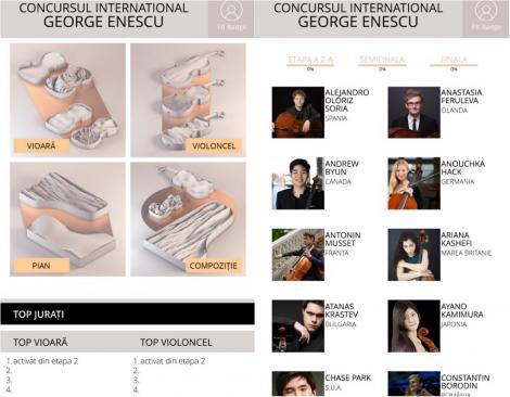"""Concursul Internaţional """"George Enescu"""" - Aplicaţia pentru mobil """"Jurat Enescu"""" a fost lansată"""