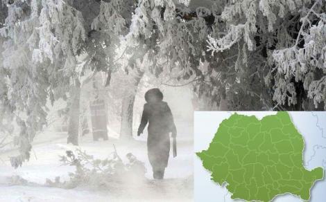 Se întorc ninsorile! Avertizare ANM de vreme rea pentru următoarele 24 de ore