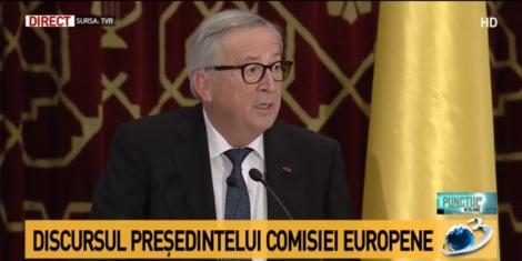"""Jean-Claude Juncker nu vede Uniunea Europeană fără România: """"Locul natural al României este în centrul UE şi în centrul zonei Schengen. România şi Europa merg împreună"""""""