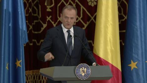 S-a aflat SECRETUL discursului în română al lui Tusk! Cine i-a scris vorbele meșteșugite președintelui Consiliului Europei!