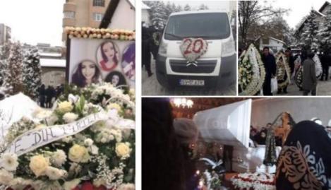 Durere nemărginită și izvor nesecat de lacrimi la înmormântarea Gabrielei Rîpan, studenta moartă într-un accident de mașină. Imagini cu puternic impact emoțional