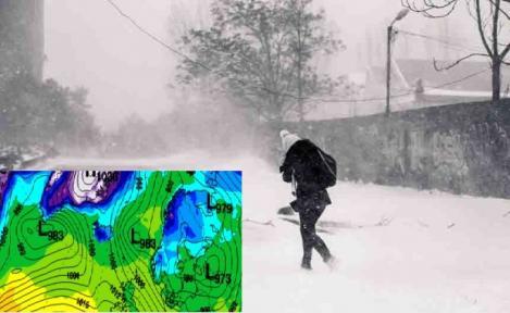 Vremea se schimbă! Cod galben de vânt puternic și viscol. Prognoza meteo pe ore