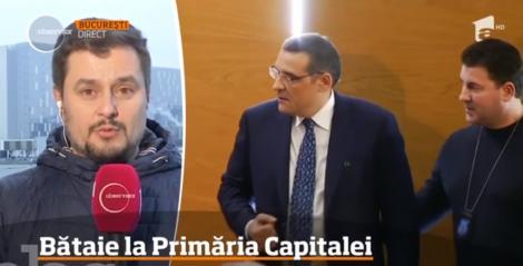 Bătaie la Primăria Capitalei! Viceprimarul, Aurelian Bădulescu, și primarul Sectorului 6, Gabriel Mutu, s-au luat la bătaie în timpul ședinței Consiliului Municipal. A fost nevoie de intervenția polițiștilor