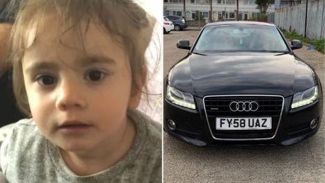 Fetița româncă de 1 an și cinci luni răpită împreună cu mașina tatălui ei a fost găsită! Care este starea ei acum
