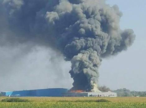 """Incendiu uriaș în Timișoara! Zeci de pompieri se luptă să controleze flăcările: """"Patru echipe de căutare-salvare verifică interiorul clădirii"""""""