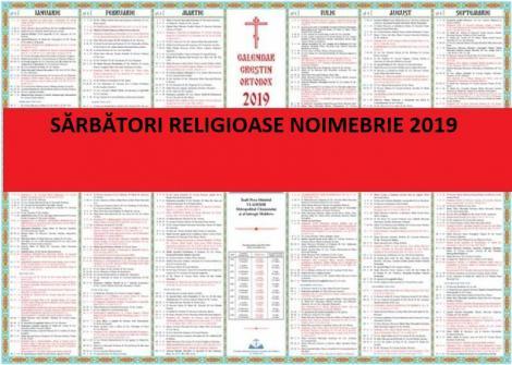 Calendar ortodox noiembrie 2019: ce sărbători de cruce roșie sunt în luna lui Brumar