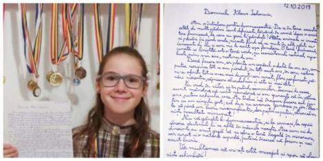 """O copilă de 11 ani i-a scris cu mâna tremurândă lui Klaus Iohannis: """"Nu vă gândiţi la dumneavoastră, ci la urmaşi... Cu respect şi speranţă"""""""
