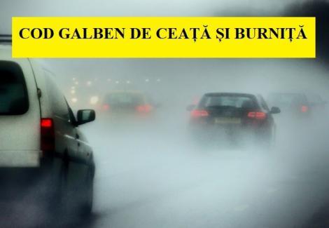 Alertă meteo cod galben de ceață și burniță: ce se întâmplă cu vremea în următoarele ore