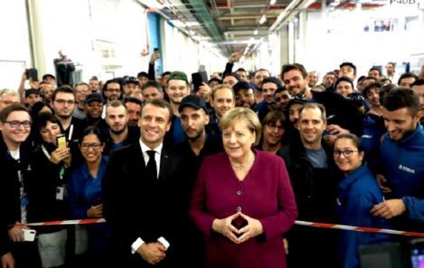Macron şi Merkel se întâlnesc la Toulouse pentru a strânge cuplul franco-german