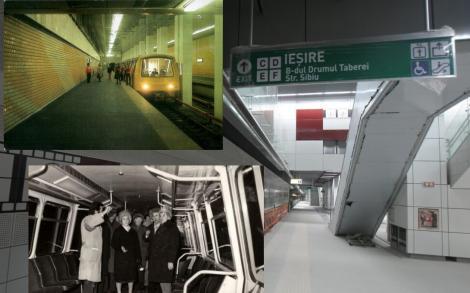 Stațiile de metrou construite în Drumul Taberei sunt de lux, dar rămân închise. Galerie foto atunci versus acum