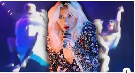 Ce căzătură a luat Lady Gaga la un concert! S-a aruncat în brațele unui fan, dorind să mimeze o scenă sex, și... VIDEO