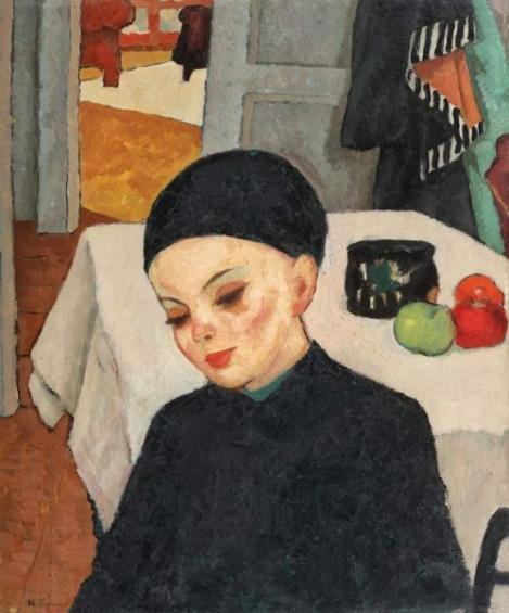"""Lucrarea """"Lecţia"""" de Tonitza, adjudecată la 190.000 de euro"""