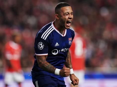 Depay a înscris al 5000-lea gol din istoria clubului Olympique Lyon