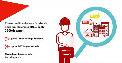 Delgaz Grid, din Grupul E.ON, anunţă că a depistat peste 2.500 de cazuri de consum fraudulos de energie şi gaze. Pierderile sunt estimate la  4,4 milioane lei