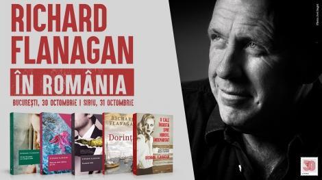 Scriitorul australian Richard Flanagan, câştigător al Premiului Man Booker, va participa la întâlniri cu cititorii români