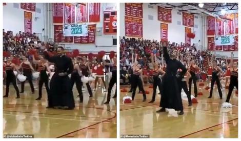 Faceți loc! Dansează preotul! Un părinte a făcut senzație la un eveniment organizat de un liceu! Imagini incredibile! Video