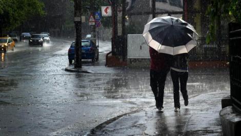 Vremea București: Alertă meteo de ploi și vânt. Cum va fi vremea azi
