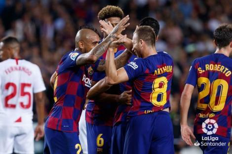 FC Barcelona – FC Sevilla, scor 4-0 în LaLiga. Pe final au fost eliminaţi Araujo şi Dembele