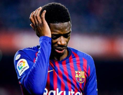 """Dembele (FC Barcelona), eliminat la meciul cu FC Sevilla, riscă două etape de suspendare, după ce i-a spus arbitrului că este """"foarte rău"""""""