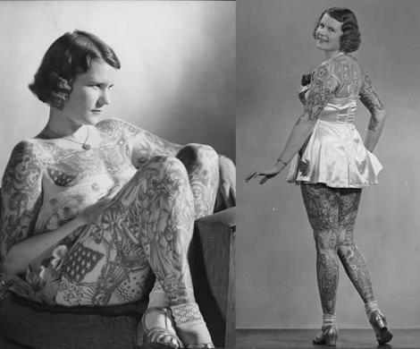 Și-a dedicat viața tatuajelor și a deschis mintea femeilor de pretutindeni! Betty Broadbent, prima femeie tatuată care și-a făcut curaj și a participat la primul concurs de frumusețe televizat în 1937
