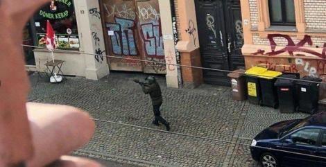 O persoană arestată în urma atacului armat de la Halle, anunţă poliţia; focuri de armă la Landsberg, la 15 km de Halle