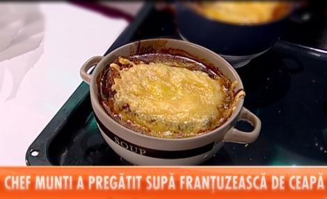 Rețeta lui Chef Munti - Supă de ceapă franțuzească