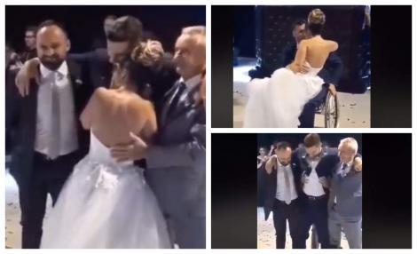 """VIDEO - Privește și vei plânge! Mirele paralizat """"s-a ridicat"""" în noaptea nunții și a dansat alături de aleasa inimii lui"""