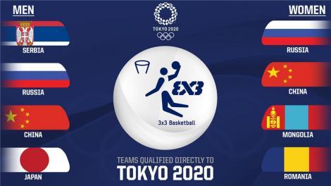Echipa feminină de baschet 3x3 a României, calificată la Jocurile Olimpice de la Tokyo