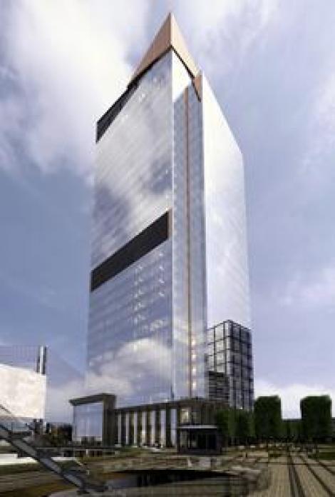 Cea mai înaltă clădire de birouri din România se află în construcție. Aproximativ 13.000 de locuri de muncă