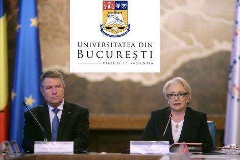 Alegeri prezidențiale 2019. Universitatea din București îi provoacă pe Klaus Iohannis și Viorica Dăncilă la o dezbatere publică, înainte de turul doi