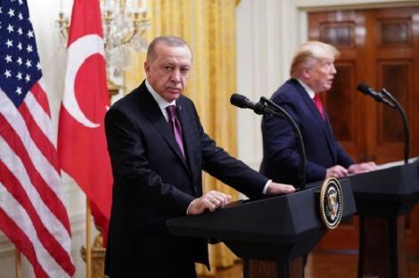 """Trump şi Erdogan nu şi-au rezolvat conflictele, în pofida unei întâlniri """"minunate"""""""