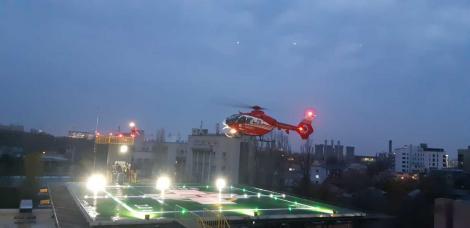 A fost efectuat primul zbor pe heliportul Spitalului Universitar de Urgență București! Investiția s-a ridicat la un milion de euro