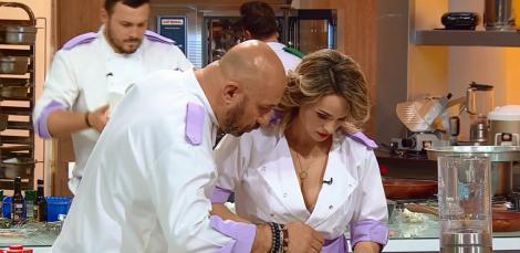 """Ups! Chef Cătălin Scărlătescu l-a făcut gelos pe soțul Amaliei? """"Mă gândeam că poate mă vede!"""""""