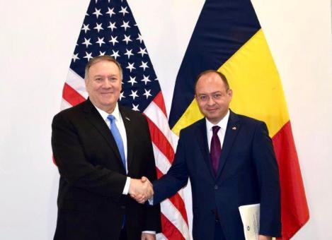Ministrul de externe Bogdan Aurescu s-a întâlnit cu secretarul de stat al SUA, Mike Pompeo
