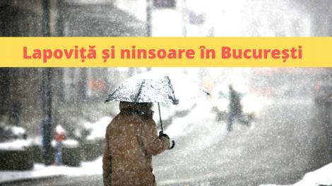 Lapoviță și ninsoare, în București, în următoarele ore! Meteorologii au emis o informare de vreme rea