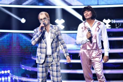 Ce emoție! Liviu Vârciu și Andrei Ștefănescu fac un cuplu de excepție în pielea lui Sir Elton John și a lui Kiki Dee