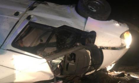 13 focuri de armă și o urmărire ca-n filme, la Brăila! Șoferul a făcut praf duba polițiștilor | FOTO