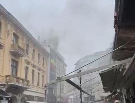Ultimă oră! Incendiu în Centrul Vechi din București - Video