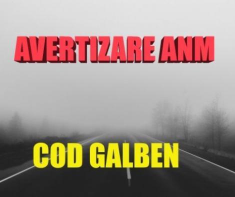 ANM: Cod galben în 10 județe. Meteorologii anunță ceață ce va determina scăderea vizibilității sub 50 m