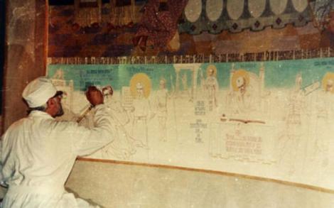 Arsenie Boca a fost un pictor de renume! A proroocit viitorul pentru toată lumea, dar mai ales, și-a prevestit moarte prin cea mai profundă pictură a lui