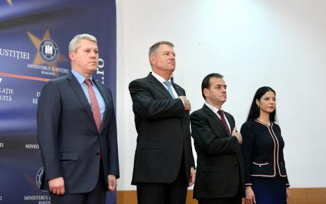 Iohannis, la Ministerul Justiţiei: Se închide o etapă de tristă amintire. Trebuie reluată discuţia pe legile justiţiei