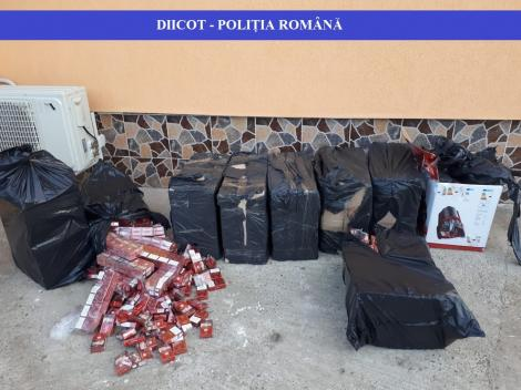 Percheziţii ale poliţiştilor şi procurorilor DIICOT Iaşi în trei judeţe, pentru destructurarea unei grupări de contrabandă cu ţigări