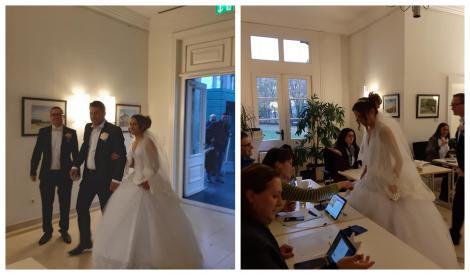 Alegeri Prezidențiale 2019. Un mire și o mireasă din diaspora au fugit de la nuntă ca să voteze la prezidențiale! Imagini incredibile! Galerie foto
