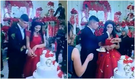"""Ginerică s-a supărat în ziua nunții! Ce i-a făcut miresei, în fața tuturor invitaților: """"Dă-o, mă, că nu-i bun tortul!"""""""
